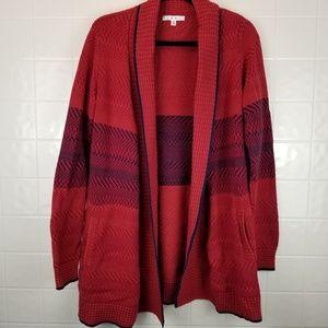 Cabi size medium oversized red cardigan style #897